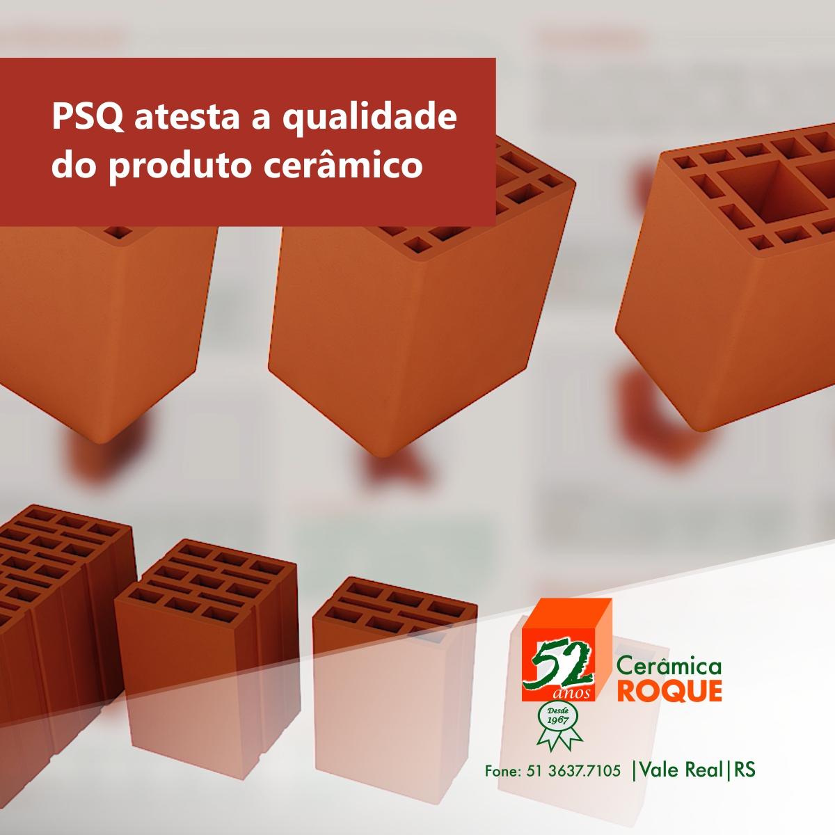 PSQ atesta a qualidade do produto cerâmico